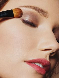 Sweep a natural eye shadow shade like taupe or brown all over your lid. Then, line your eyes with a waterproof liner and it will stay on all day: http://www.bhg.com/beauty-fashion/makeup/beauty-in-a-hurry/?socsrc=bhgpin053114partyreadyintwopoints&page=2