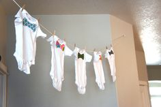 Pretty Dubs: Bow Tie Baby Shower This is kinda of cute I may just do this for Dave and Julie LOL