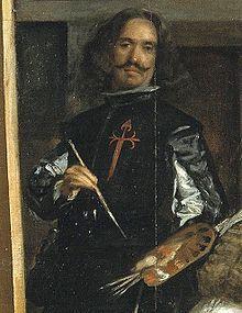 Diego Velázquez  Diego Rodríguez de Silva y Velázquez (Sevilla, hacia el 5 de junio de 15991 - Madrid, 6 de agosto de 1660), conocido como Diego Velázquez, fue un pintor barroco, considerado uno de los máximos exponentes de la pintura española y maestro de la pintura universal. Velázquez se autorretrató, pintando, en 1656 en su cuadro más emblemático: Las Menina
