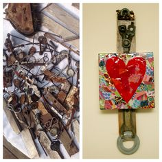 Found object heart made from these discarded materials. #Upcycle your trash and find creative reuses! #SustainableArt!