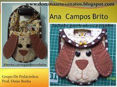 Don'Ana Artesanatos: Porta carregador celular...modelo cachorrinho