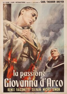 1959 Italian re-release poster for THE PASSION OF JOAN OF ARC (Carl Th. Dreyer, Denmark, 1928)
