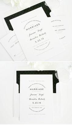 Classic black & white invitation suite