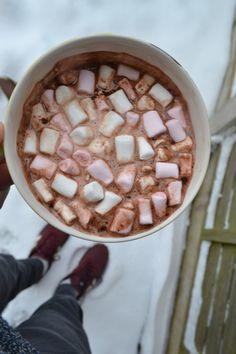 hot cocoa + marshmallows