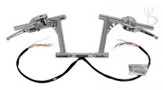 Rise Chrome RSD Drag Bars Handlebars with Hand Controls and Switches Harley Harley Davidson Handlebars, Harley Davidson Motorcycles, Custom Harleys, Custom Bikes, Build Your Own Bar, Best Bike Shorts, Ape Hangers, New Motorcycles