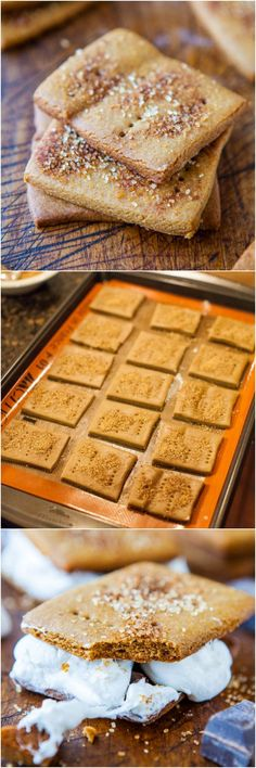 Homemade Cinnamon Sugar Graham Crackers for S'mores!