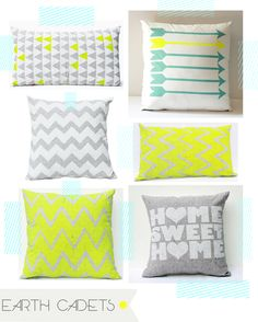 From Earth Cadets, Etsy via Take Five Tuesday by I like the grey Home Sweet home and chevron, Silk screened. Little Girl Rooms, Home And Deco, My New Room, Home Decor Bedroom, Bed Linen, Decoration, Home Accessories, Sweet Home, House Design