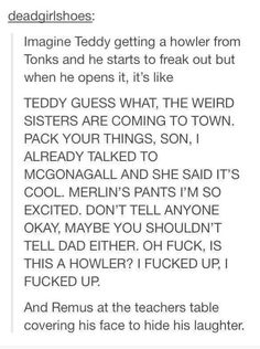 I'm crying with laughter and a lot of sadness that this didn't happen.