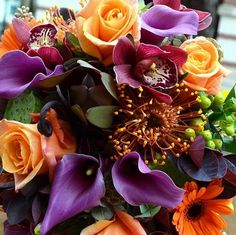Fall Bridal Bouquet fall wedding bouquets with purple Bridal Bouquet Fall, Fall Bouquets, Fall Wedding Bouquets, Autumn Wedding, October Wedding, Flower Bouquets, Bridal Bouquets, Purple Wedding Flowers, Bridal Flowers