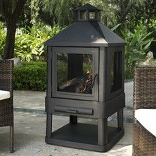 Leander Outdoor Villa Pagoda Fireplace