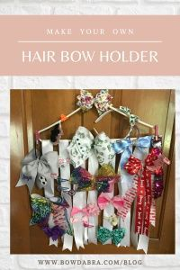 Hair Bow Holder - Do you have too many hair bows?  Here is your answer.  create this fun and easy hairbow holder Ribbon Flower Tutorial, Hair Bow Tutorial, Ribbon Hair Bows, Diy Hair Bows, How To Make Hair, How To Make Bows, Diy Hair Bow Holder, Bow Holders, Flower Headband Wedding