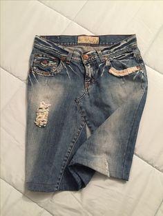 Gonna di jeans fatta a mano_ jeans skirt diy