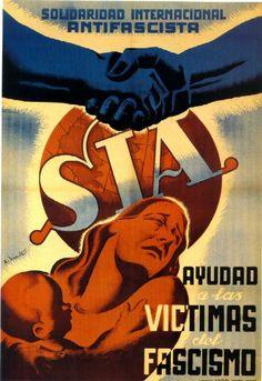 """"""" El equivalente al SRI entre los anarquistas, solicita solidaridad con las víctimas del fascismo. EL SIA y el SRI no se llevaban del todo bien, como su respectivas organizaciones madre. """" -Carteles..."""