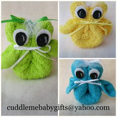 Owls for a Baby Shower favor by CuddleMeBabyGifts on Etsy, $3.95