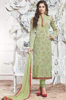 Zubeda Light Green Party Wear Designer embroidered Georgette Churidar  Salwar Suit Salwar Suits Online 04702afef