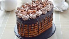 Шоколадный торт со сливочным кремом, пошаговый рецепт с фото