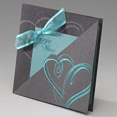 """Hochzeitseinladung """"Isabella"""" - elegante Karte zu Ihrer Hochzeit - weddix"""