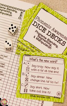 Looking for ideas to increase engagement with your students? DICE DECKS interactive task cards teach specific skills while keeping their attention! Great for individual, small group (speech therapy, RTI, etc.), or even whole-class learning. Click to view this Phonemic Awareness set!