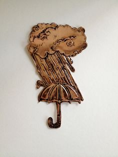 Rainy Day Embossed Copper by adamtrest on Etsy, $35.00