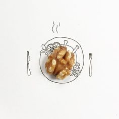 Artist uses small objects to create whimsical designs / Boing Boing Object Photography, Flat Lay Photography, Still Life Photography, Girly M, Creative Artwork, Oeuvre D'art, Everyday Objects, Food Illustrations, Food Art
