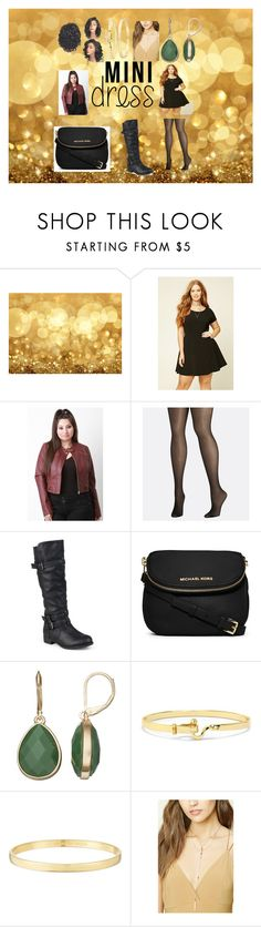 """Mini Dress"" by kindan3rdy22 ❤ liked on Polyvore featuring Forever 21, Avenue, Journee Collection, MICHAEL Michael Kors, Napier, Evie & Emma, Kate Spade and plus size dresses"