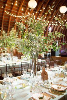 Rustic barn reception: http://www.stylemepretty.com/virginia-weddings/charlottesville/2015/03/17/whimsical-barn-wedding-with-romantic-details/   Photography: Nancy Ray - http://nancyrayphotography.com/