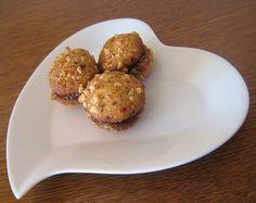 Biscuits aux noisettes et ganache chocolat praliné