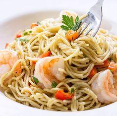 Recipe: Skinny Shrimp Scampi | Skinny Mom | Where Moms Get the Skinny on Healthy Living#