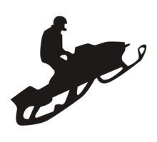 snowmobile crossing silhouette - Google Search