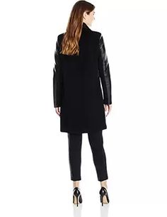 Vera Wang Women's Taylor Wool-Blend Drape Coat with Faux-Leather Trim $199.00 - $249.00 Prime 3.5 out of 5 stars 2