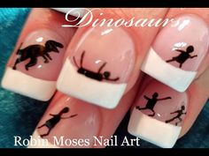 Easy Dinosaur Nail design that is inexpensive and fun. Cute Nail Art, Nail Art Diy, Easy Nail Art, Diy Nails, Cute Nails, Christmas Nail Art Designs, Christmas Nails, Simple Nail Art Designs, Nail Designs
