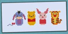 Querida Naiara: Baberos en punto de cruz ** Snoopy, La Sirenita & Winnie the Pooh **