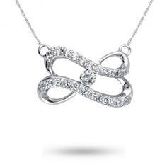 Forever Heart, 10K White Gold Diamond Pendant, 1/5 ctw. - by Samuels Jewelers