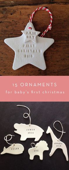 Fifteen Ornaments for Baby's First Christmas | Thrifty Littles via @thriftylittles