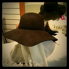 Women's  Floppy Hat Black Polyester looks and feels like suede Chic Accessories Hats