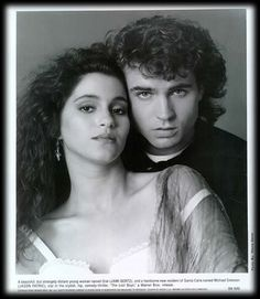 Jamie Gertz & Jason Patric from the Lost Boys...  I miss big 80s hair don't you?  *sigh*