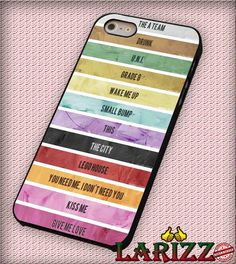 """Ed Sheeran Tracklist for iPhone 4/4s, iPhone 5/5S/5C/6/6 , Samsung S3/S4/S5, Samsung Note 3/4 Case """"007"""""""