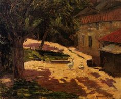 A Henhouse - Paul Gauguin