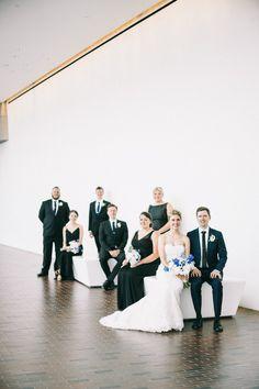 Walker Art Center Wedding   Wedding Party   Black Groomsmen Suits   Black Bridesmaid Dresses Black Bridesmaids, Black Bridesmaid Dresses, Wedding Dresses, Black Groomsmen Suits, Walker Art, Getting Married, Real Weddings, Wedding Planner, Party