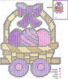Easter Train Plastic Canvas Ornaments, Plastic Canvas Christmas, Plastic Canvas Crafts, Plastic Canvas Patterns, Needlepoint Patterns, Cross Stitch Patterns, Sewing Patterns, Perler Bead Emoji, Perler Beads