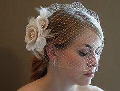 Bridal Veil sequin Short VeilWedding VeilBest Selling by fadfay, $25.00