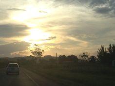 Fim de tarde a caminho de Jaguaruna, em Santa Catarina.