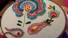 floresita - things I've made : Stitching Saturday: Roumanian stitch leaves