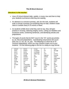 Help summary writing