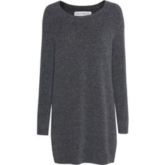 FINE COLLECTION Merino Blend Long Anthracite // Merino wool blend knit dress