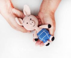 Pattern Amigurumi Piglet Pattern plush animal Crochet by PetsLair
