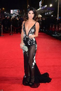 Sheer delight: Lucy Mecklenburgh, 25, put on a daring display at the 50 Shades Darker premiere in Leicester Square, London, on Thursday night