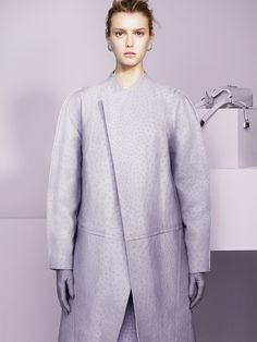 Candylike Pastel Coats to Brighten Up Fall - T Magazine Faded Lilac - Proenza Scholuler coat and skirt