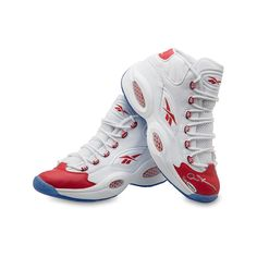 ALLEN IVERSON Autographed Reebok Question Mid Shoes with Red Toe UDA LE 30 - Game Day Legends