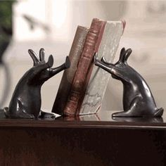 awesome bunnies bookends $42.95